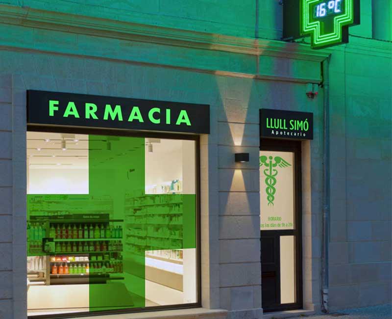 Rotulos y letreros para farmacia